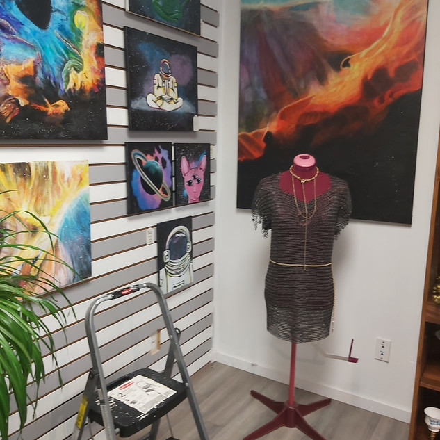 Acrylic Paintings, Chainmail