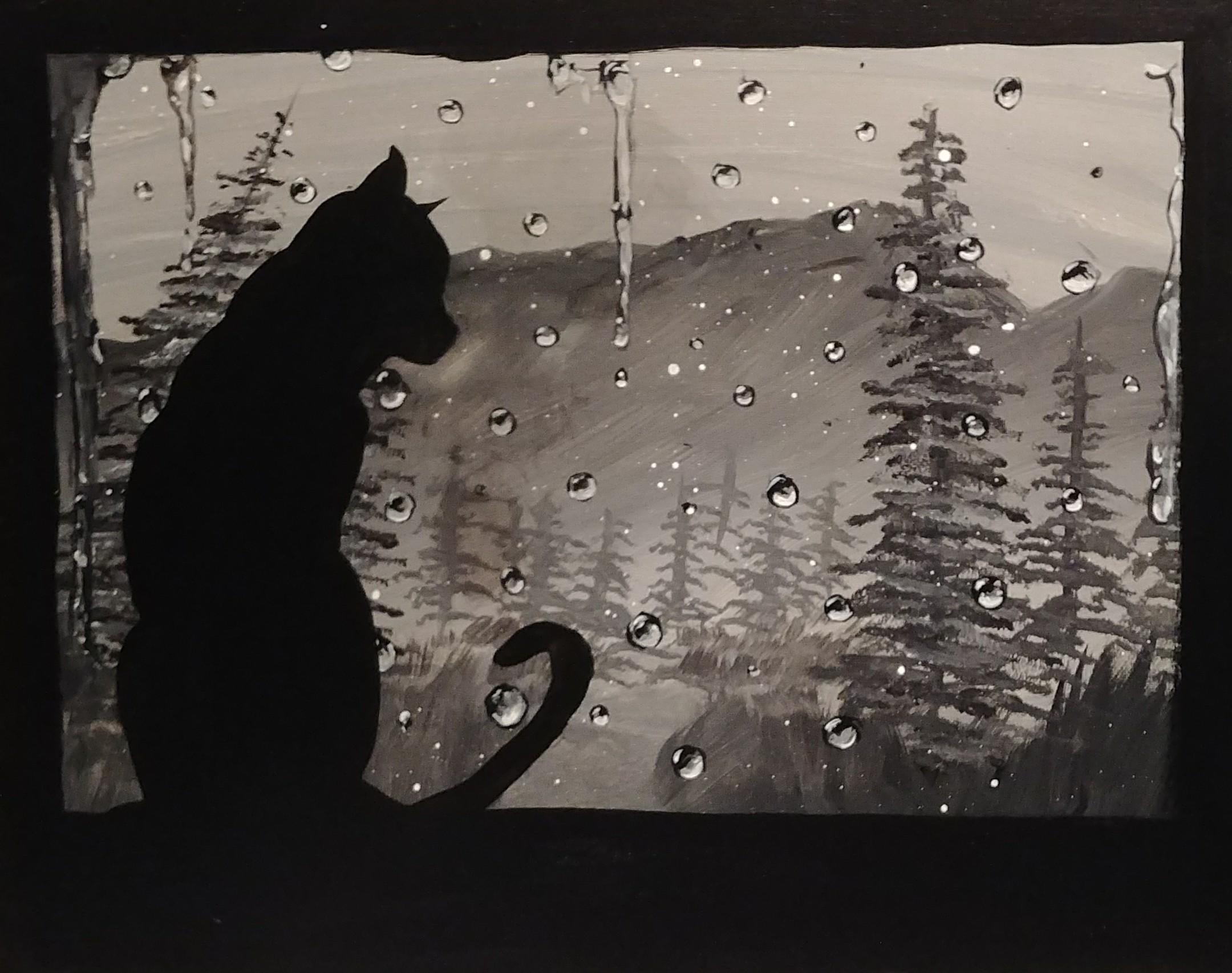 Rain Day Cat