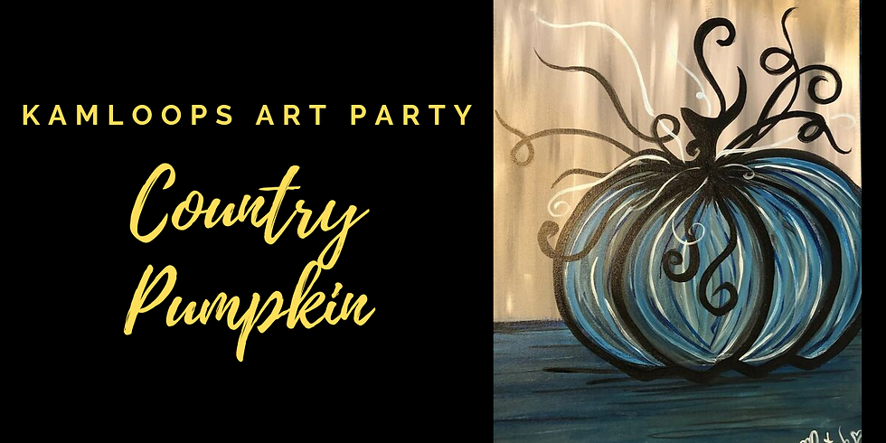 Country Pumpkin Acrylic Painting