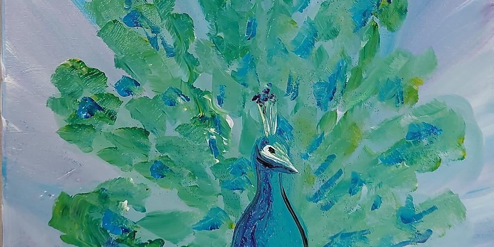 Eden's Way Farm Sanctuary - Paint with Peacocks