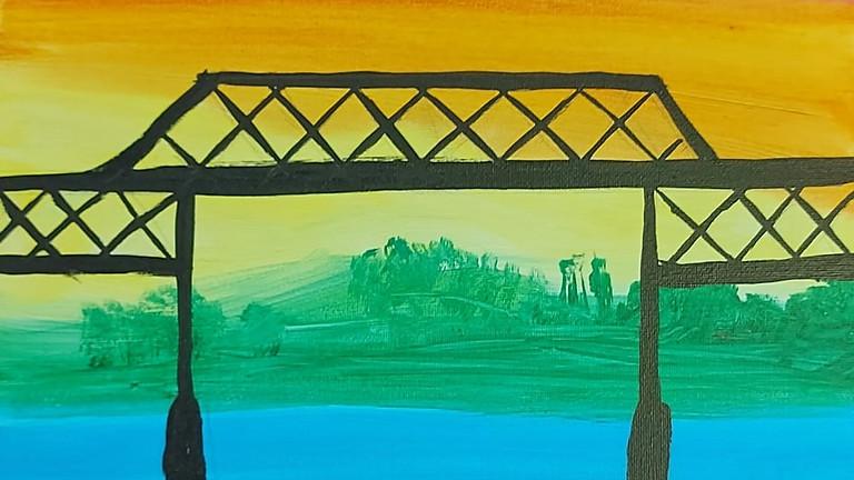 Pride Bridge Painting at the Sandbar