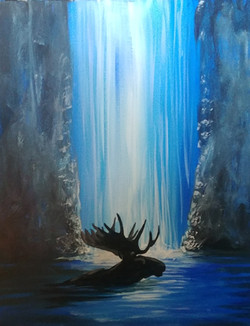 Waterfall Moose