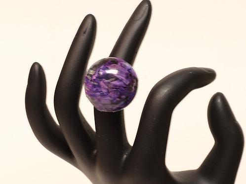 Medium Flower Resin Ring