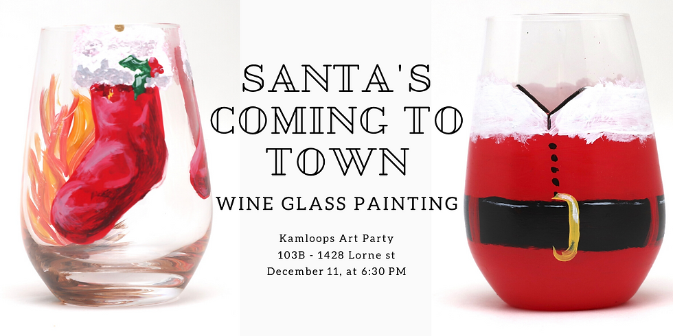 Christmas Glassware Painting