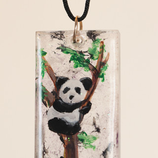 Hand Painted Panda Pendant