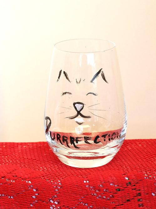 Puuuurfect Cat Stemless Glassware