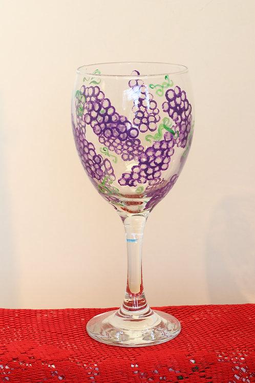 Grapevine Wine Glass