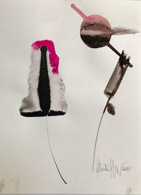 ROBERTA PIZZORNO italian artist artwork ink