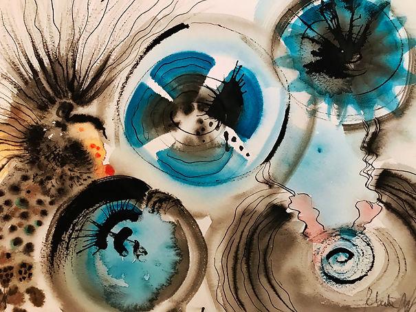 ROBERTA PIZZORNO italian artist watercolor ink