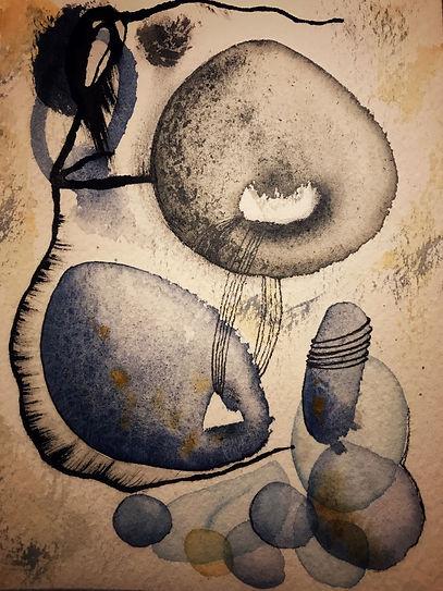 ROBERTA PIZZORNO italian artist watercolor and ink