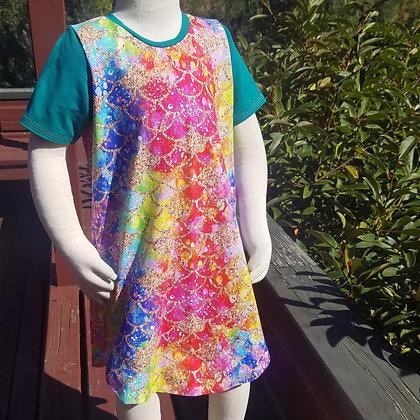 Rainbow Mermaid T-Shirt Dress