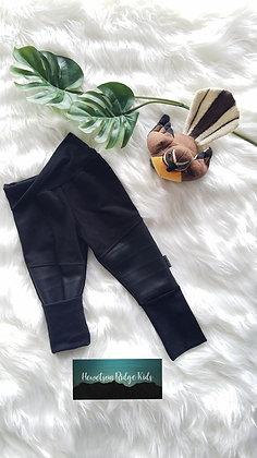 Classic Black Moto Patch Pants