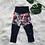 Thumbnail: Dark Watercolour Floral Patch Pants
