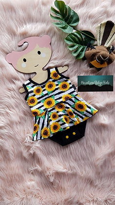 Sunflower Skirt Onesie