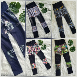 Size 6-9 Grow Along Moto Patch Pants