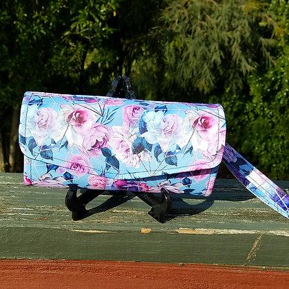 Crystal Rose Clutch Wallet
