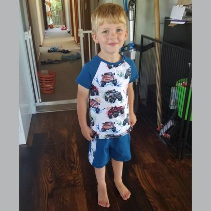 Monster Trucks Shirt + Shorts set