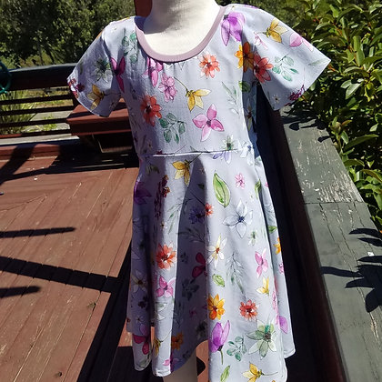 Watercolour Garden Twirl Dress