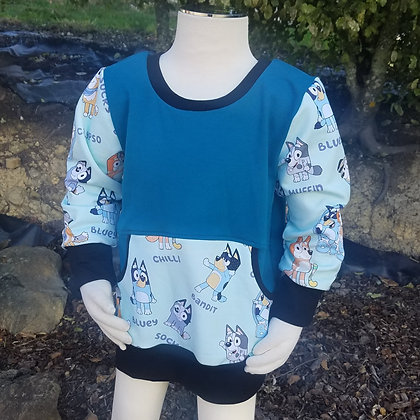 Blue Puppy Sweater