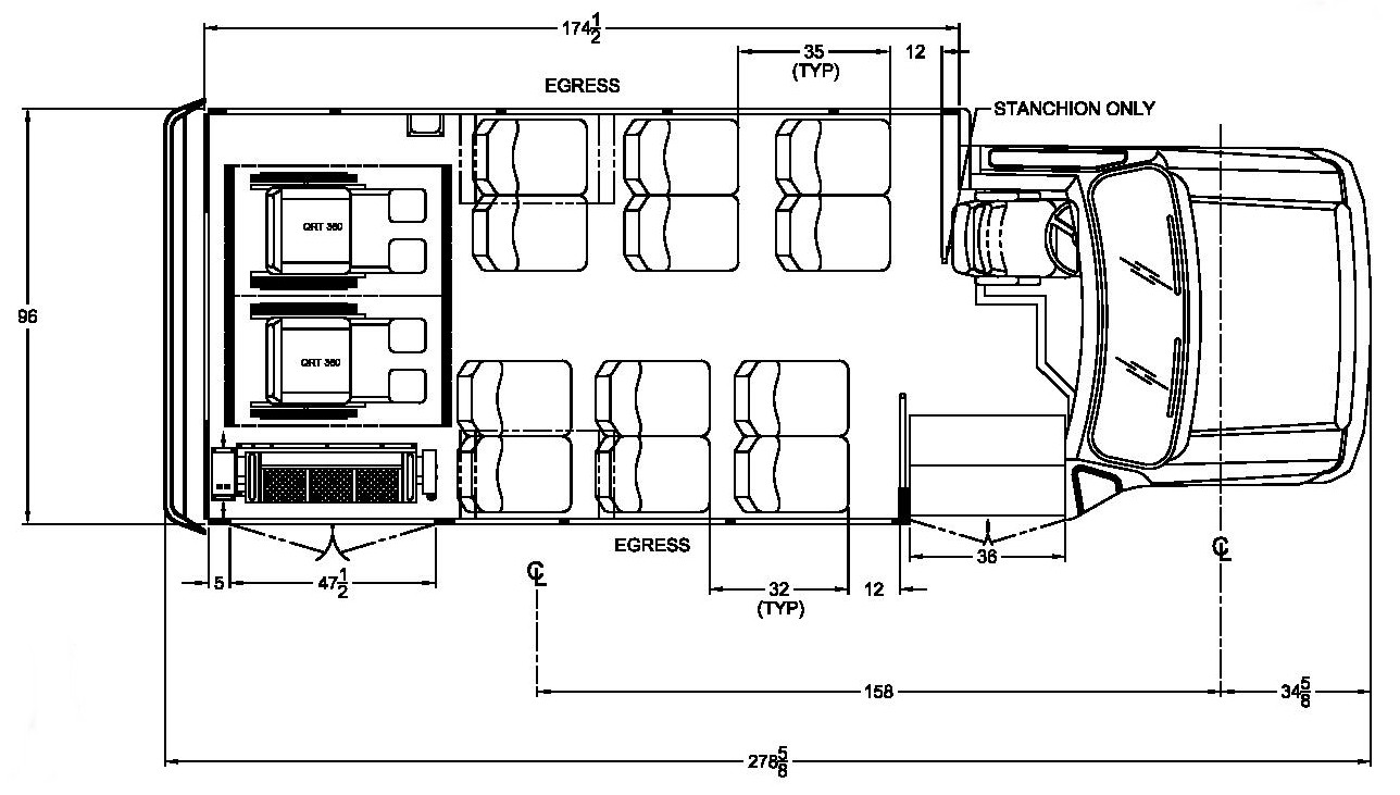 Ford Starcraft Allstar floorplan