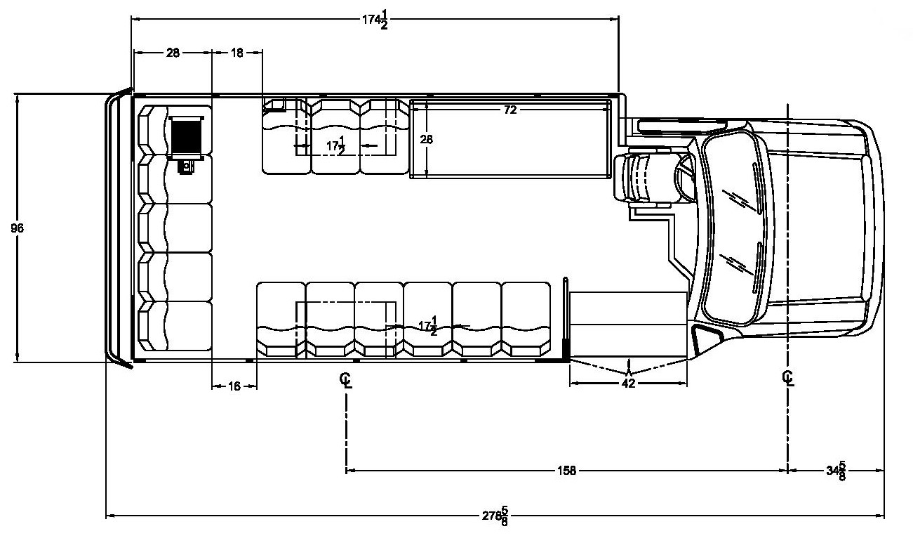 Starcraft Ford Allstar - 14 Pass w/ Int Lugg Floorplan