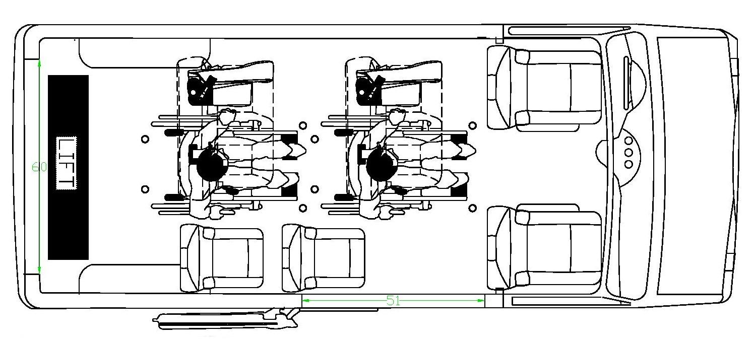 Prime-Time Ford Transit - Floorplan