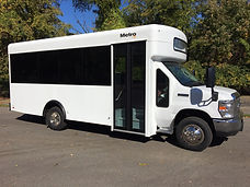 14 Passenger and rear luggage bus