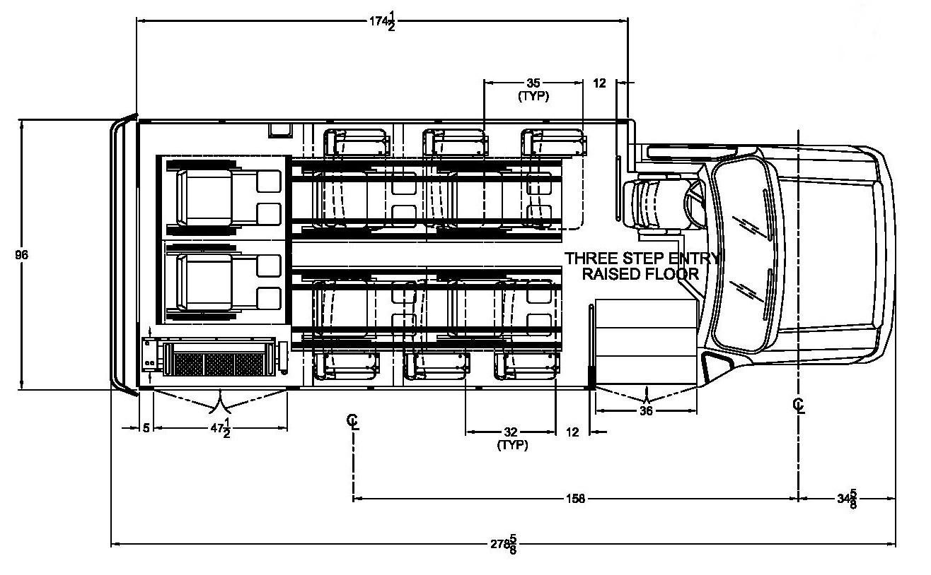 Ford Starcraft Allstar 6 W/C Floorplan