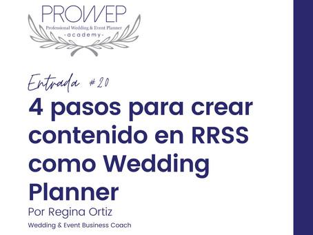 4 pasos para crear contenido en RRSS como Wedding Planner