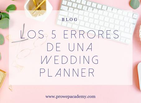 Los 5 errores de una Wedding Planner