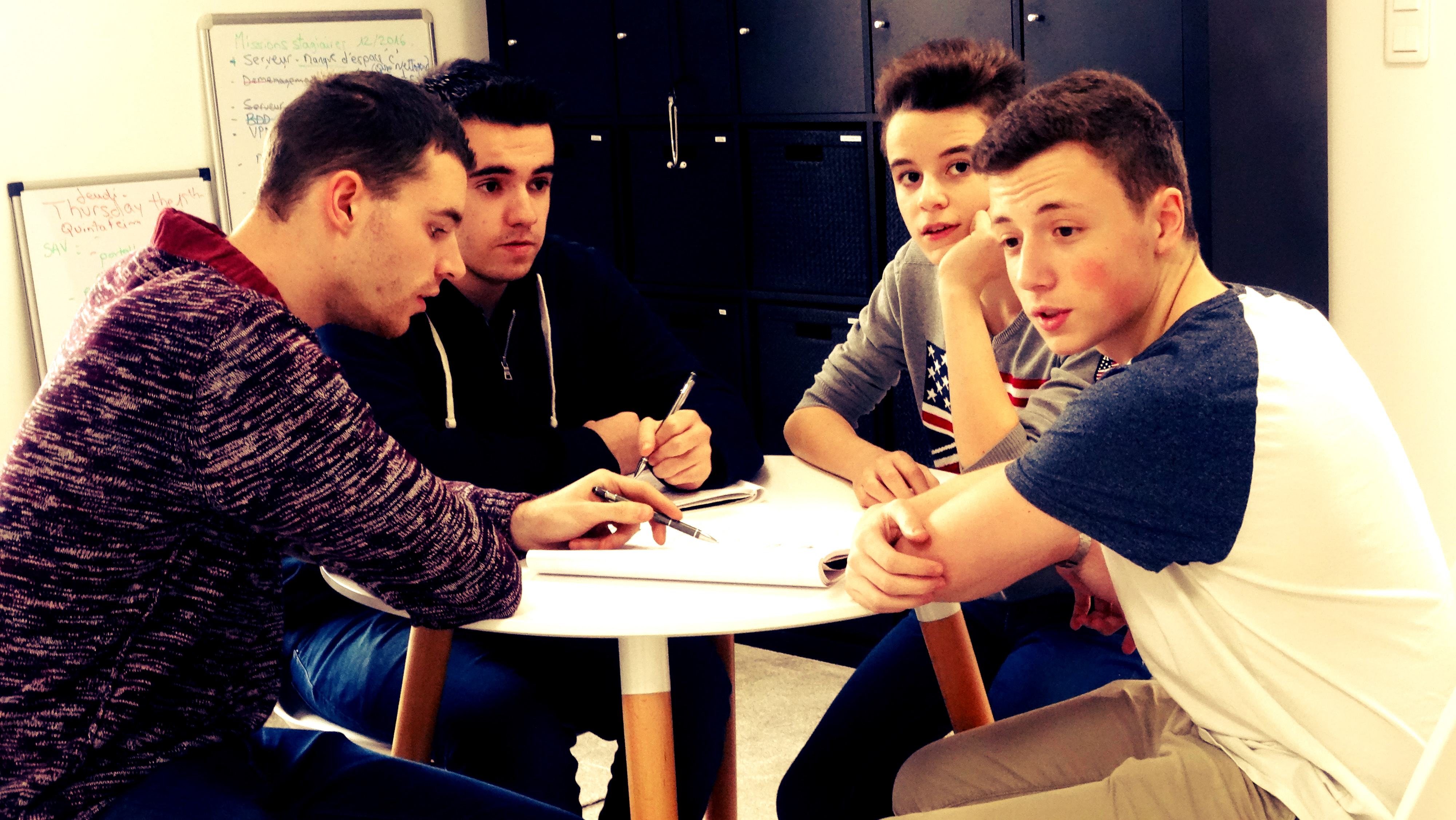 Nathan, Matthieu, Jimmy