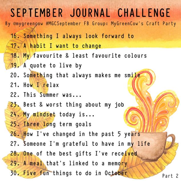 September Journal Challenge Part 2