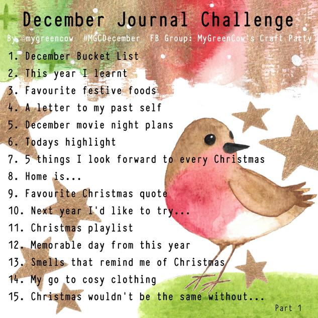 December Journal Challenge Robin Part 1