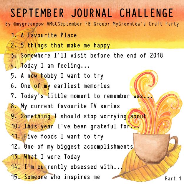 September Journal Challenge Part 1