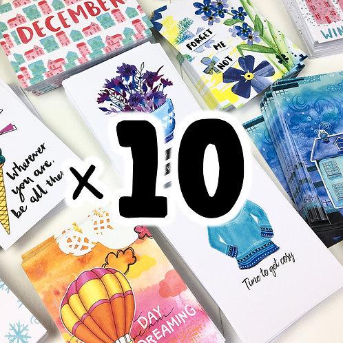 x10 Postcards | Lucky Dip!