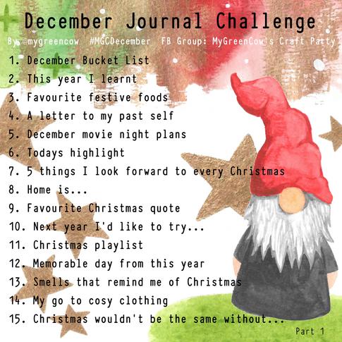 December Journal Challenge Gonk Part 1