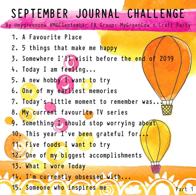 September Journal Challenge 2019 Part 1