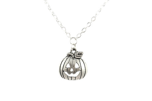 Silver Pumpkin Necklace