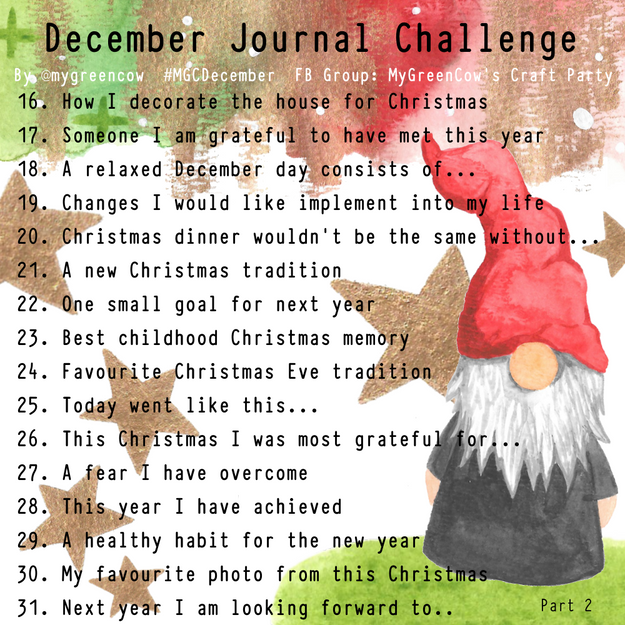 December Journal Challenge Gonk Part 2