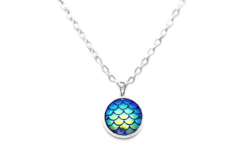 Peacock Mermaid Necklace