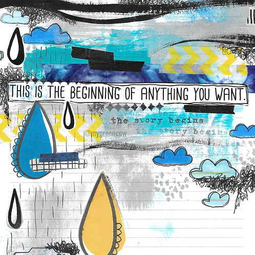 The Beginning Of Anything Art Print