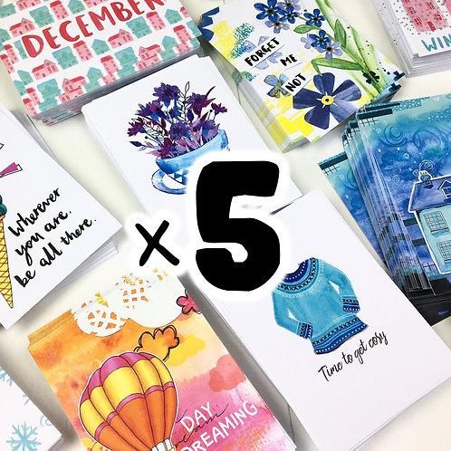 x5 Postcards | Lucky Dip!