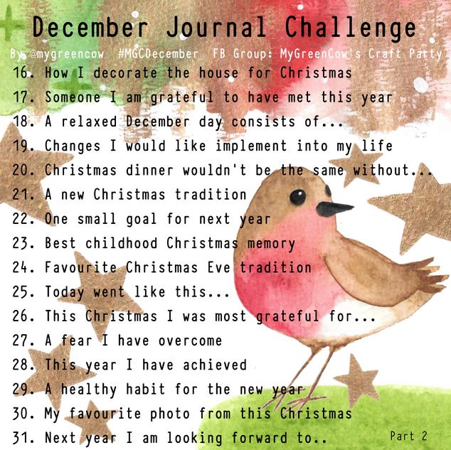 December Journal Challenge Robin Part 2