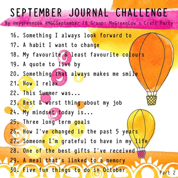 September Journal Challenge 2019 Part 2