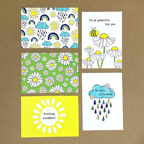 No Rain, No Flowers - Postcard Pack