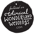 Featured on Whimsical wondererland weddings
