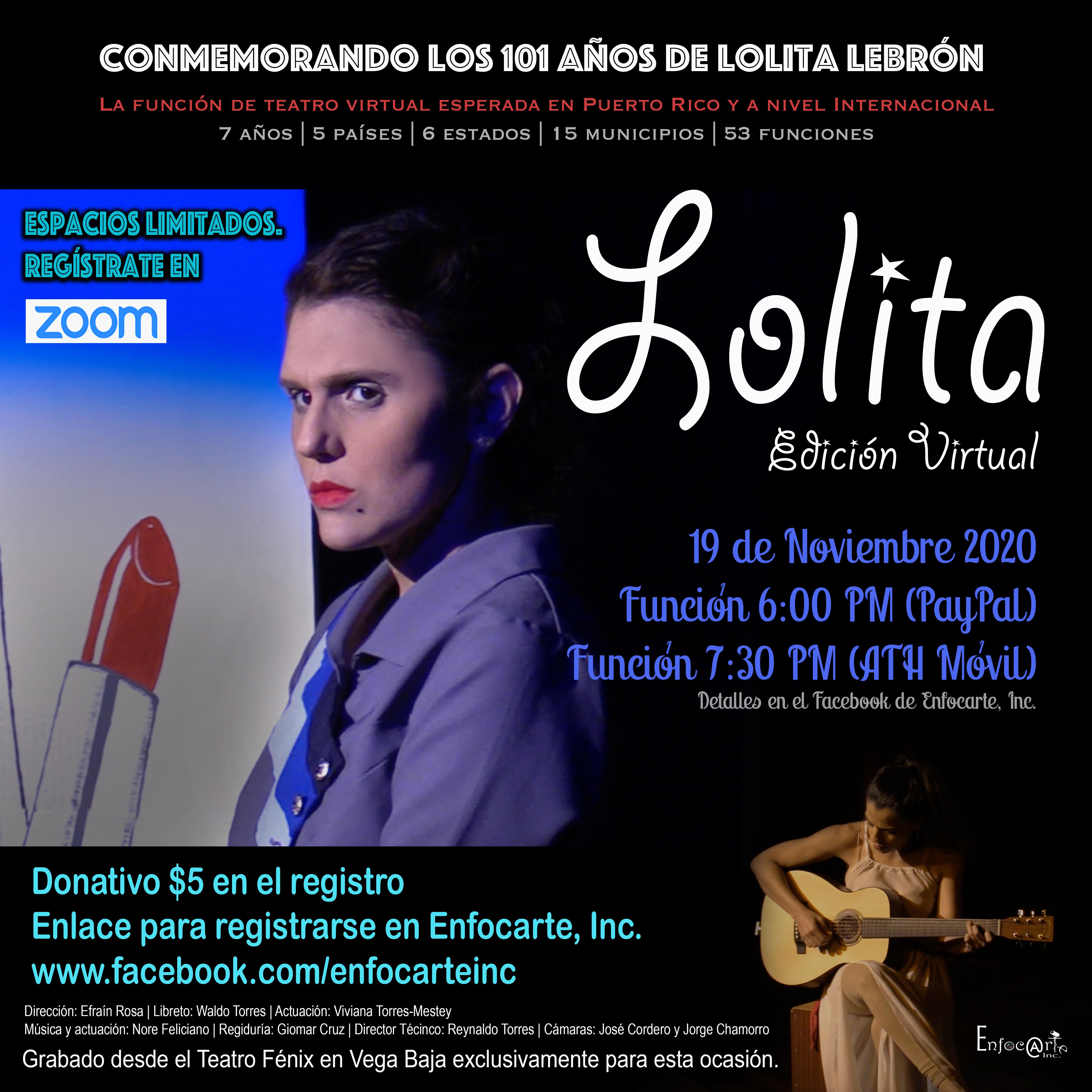 """Teatro Virtual """"Lolita"""""""