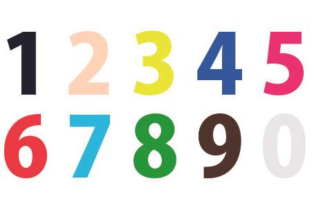 数字が色に見える