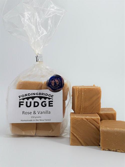 Rose & Vanilla Fudge - 150g Bag