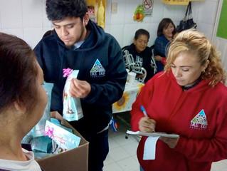 Reparto de Galletas en la Delegación Cuauhtémoc